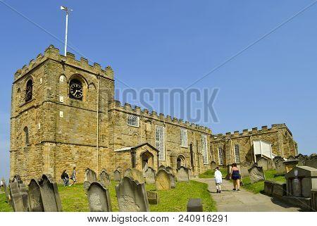 Whitby, North Yorkshire, England, Uk - May 7, 2018 : Church Of Saint Mary An Anglican Parish Church