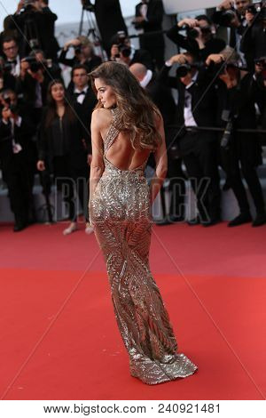 Izabel Goulart attends the screening of 'Burning'  during the 71st  Cannes Film Festival at Palais des Festivals on May 16, 2018 in Cannes, France.
