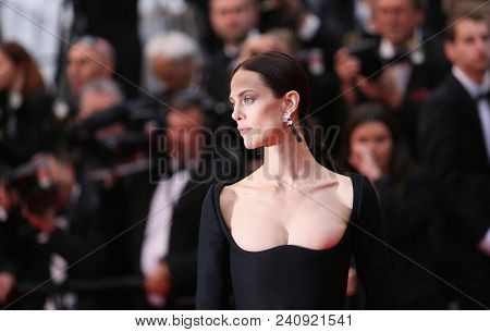 Aymeline Valade attends the screening of 'Burning' during the 71st  Cannes Film Festival at Palais des Festivals on May 16, 2018 in Cannes, France.