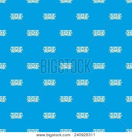 Wagon Pattern Vector Seamless Blue Repeat For Any Use