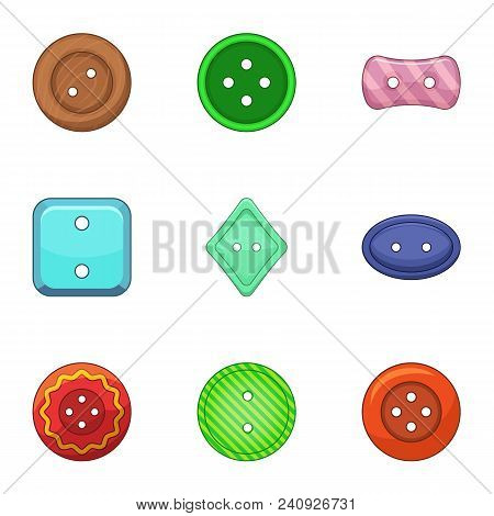 Clasp Icons Set. Cartoon Set Of 9 Clasp Vector Icons For Web Isolated On White Background