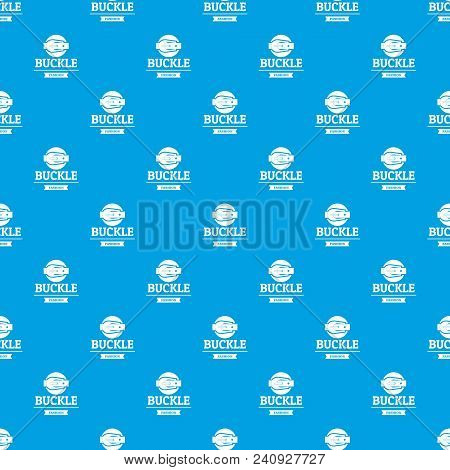 Buckle Garment Pattern Vector Seamless Blue Repeat For Any Use