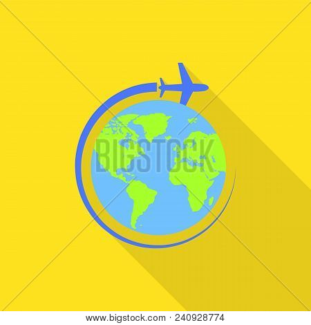 Global Avia Flight Icon. Flat Illustration Of Global Avia Flight Vector Icon For Web Design