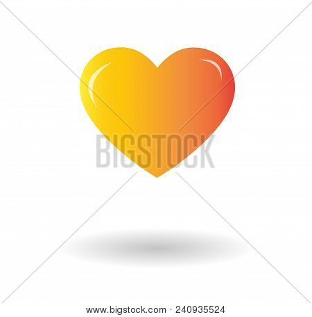 Heart Vector Icon Isolated Over White Background