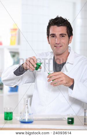 A scientist working in a lab