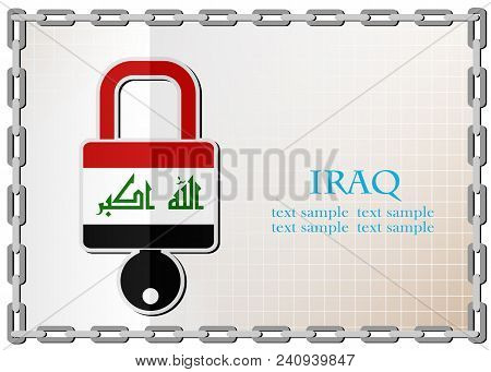 Lock Logo Made From The Flag Of Iraq