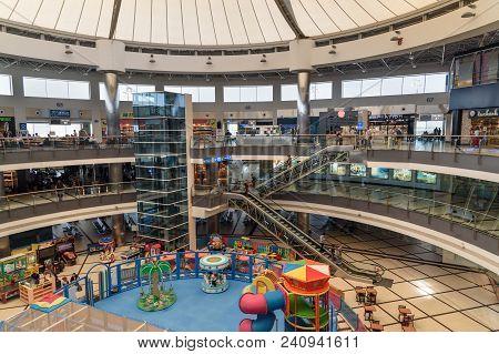 Antalya, Turkey - April 23, 2018: Departure Terminal At International Airport Antalya Havalimani