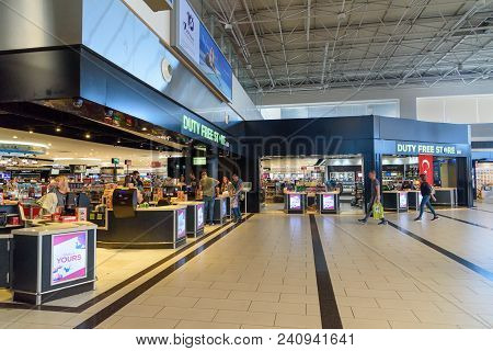 Duty Free Shop In Departure Terminal At Antalya International Airport, Antalya Havalimani. Turkey