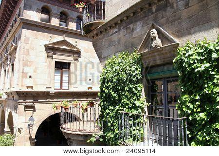 Poble Espanyol Spanish village in Barcelona Spain poster