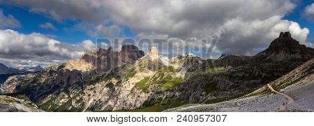 Schwabenalpenkopf, The Torre Dei Scarperi In The Sextner Valley, Part Of The Dolomites, View From Th
