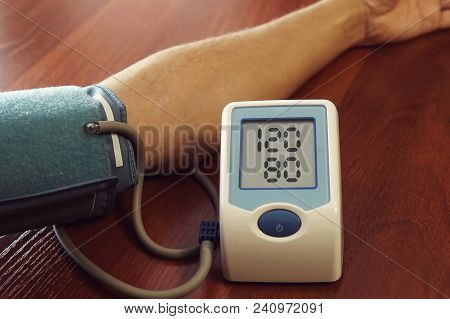 Patient Measuring Blood Pressure