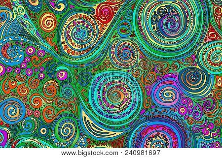 Pattern, Handdrawn Doodling Design Illustration, . Kids Illustration, Cute Background. Color Doodle