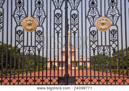 Rashtrapati Bhavan The Iron Gates Official Residence President New Delhi India