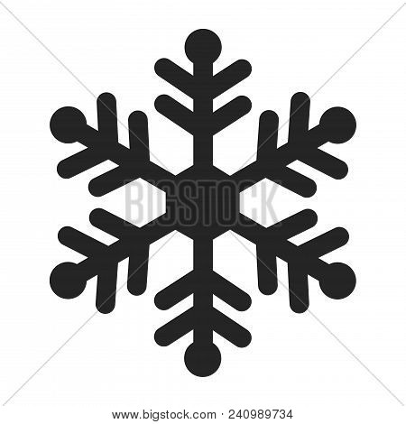 Snowflake Icon Isolated On White Background. Snowflake Icon Modern Symbol For Graphic And Web Design