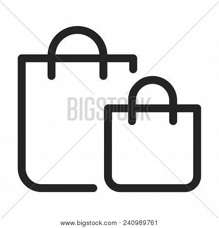 Shopping Bags Icon Isolated On White Background. Shopping Bags Icon Modern Symbol For Graphic And We