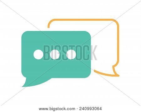 Vector Speech Chat Bubbles Icon Web Message. Communication Icon. Speaking Corporate Message Dialog.