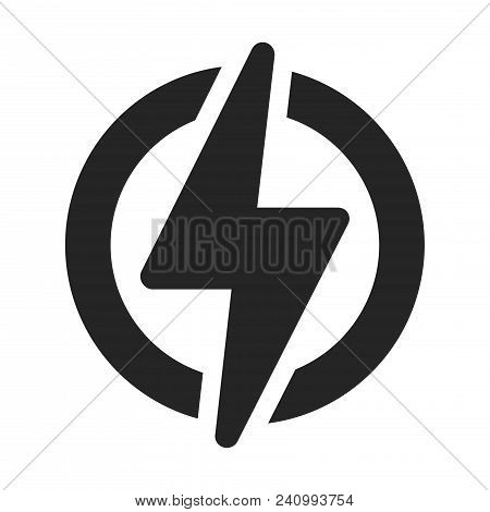 Power Icon Isolated On White Background. Power Icon Modern Symbol For Graphic And Web Design. Power