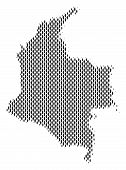 Demography Colombia map people. Population vector cartography concept of Colombia map created of person items. Social scheme of nation group. Demographic abstract halftone map. poster