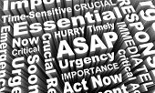 ASAP Act Now As Soon Possible Urgent Words 3d Render Illustration poster