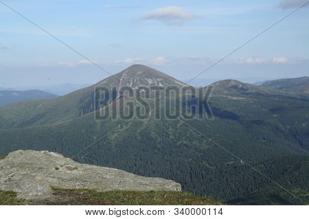 Hoverla Is The Highest Mountain In Ukraine, View From Mountain Petros