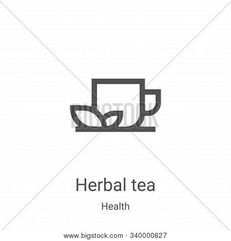 herbal tea icon isolated on white background from health collection. herbal tea icon trendy and mode