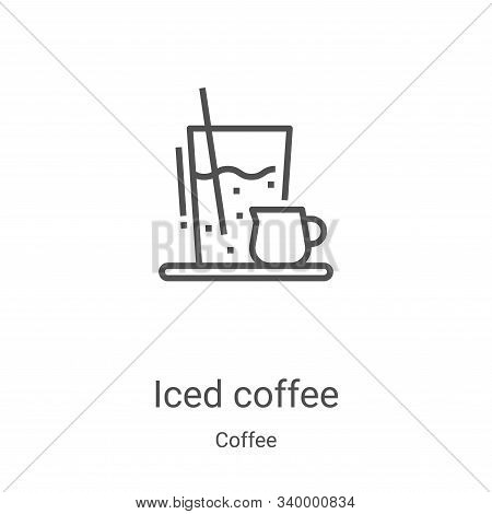 iced coffee icon isolated on white background from coffee collection. iced coffee icon trendy and mo