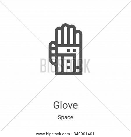 glove icon isolated on white background from space collection. glove icon trendy and modern glove sy
