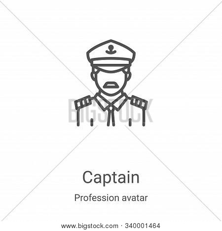 captain icon isolated on white background from profession avatar collection. captain icon trendy and