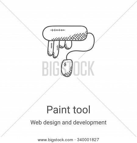 paint tool icon isolated on white background from web design and development collection. paint tool