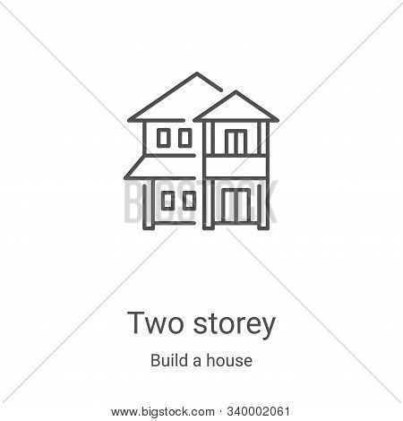 two storey icon isolated on white background from build a house collection. two storey icon trendy a