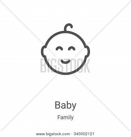 baby icon isolated on white background from family collection. baby icon trendy and modern baby symb