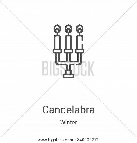 candelabra icon isolated on white background from winter collection. candelabra icon trendy and mode