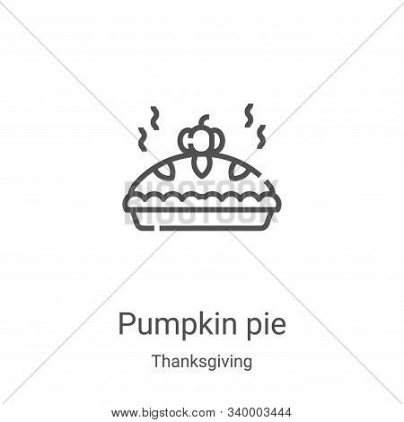 pumpkin pie icon isolated on white background from thanksgiving collection. pumpkin pie icon trendy