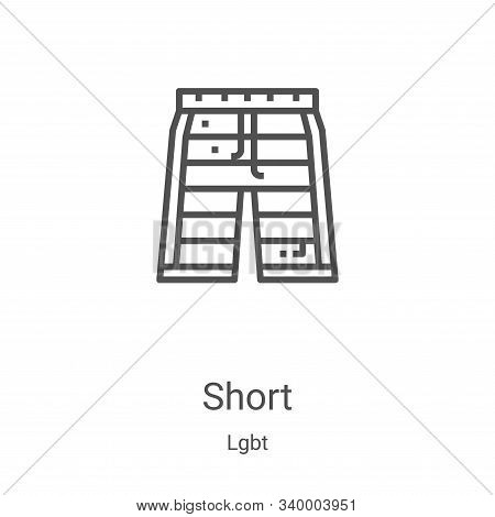 short icon isolated on white background from lgbt collection. short icon trendy and modern short sym