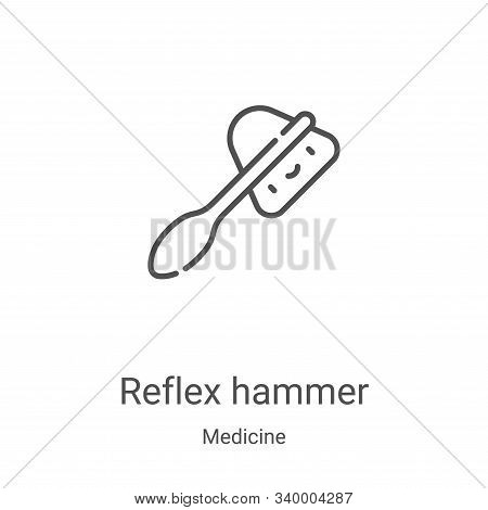 reflex hammer icon isolated on white background from medicine collection. reflex hammer icon trendy