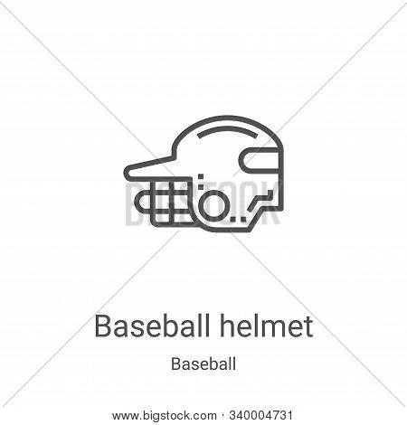 baseball helmet icon isolated on white background from baseball collection. baseball helmet icon tre