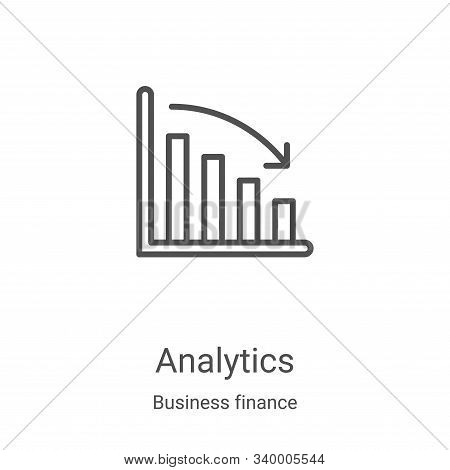 analytics icon isolated on white background from business finance collection. analytics icon trendy