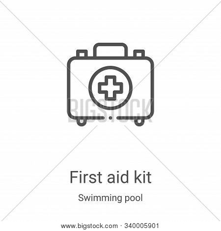 first aid kit icon isolated on white background from swimming pool collection. first aid kit icon tr