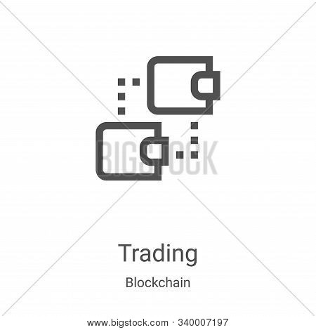 trading icon isolated on white background from blockchain collection. trading icon trendy and modern