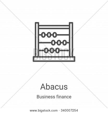 abacus icon isolated on white background from business finance collection. abacus icon trendy and mo
