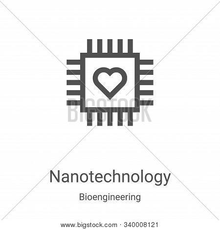 nanotechnology icon isolated on white background from bioengineering collection. nanotechnology icon