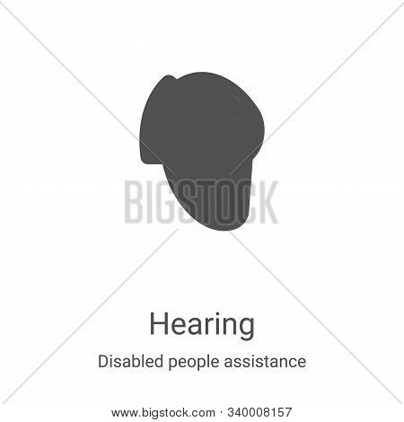 hearing icon isolated on white background from disabled people assistance collection. hearing icon t