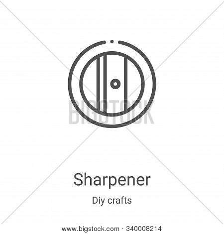 sharpener icon isolated on white background from diy crafts collection. sharpener icon trendy and mo