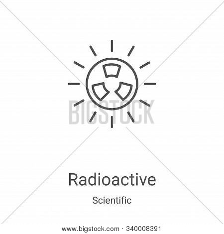 radioactive icon isolated on white background from scientific collection. radioactive icon trendy an