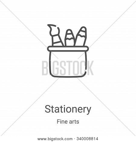 stationery icon isolated on white background from fine arts collection. stationery icon trendy and m