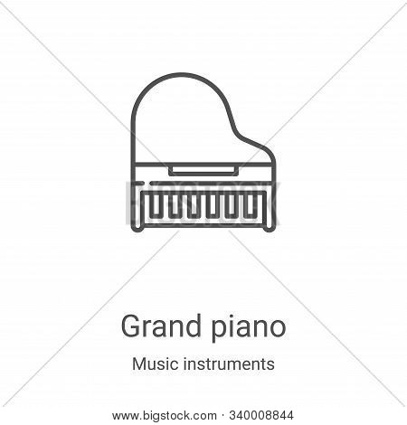 grand piano icon isolated on white background from music instruments collection. grand piano icon tr