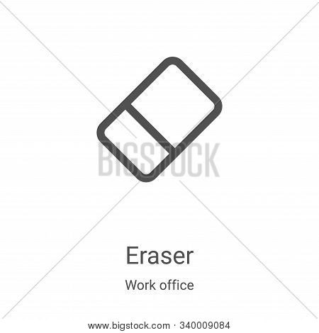 eraser icon isolated on white background from work office collection. eraser icon trendy and modern