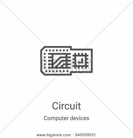 circuit icon isolated on white background from computer devices collection. circuit icon trendy and