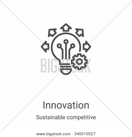 innovation icon isolated on white background from sustainable competitive advantage collection. inno