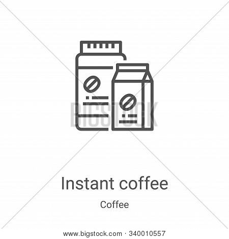instant coffee icon isolated on white background from coffee collection. instant coffee icon trendy